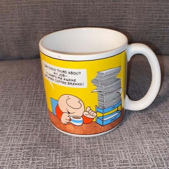 Vtg Ziggy Cartoon Coffee Break Work Mug